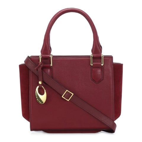 Handmade Phive Rivers Women's Leather Handbag (Red, PR1267) (Italy) - One Size