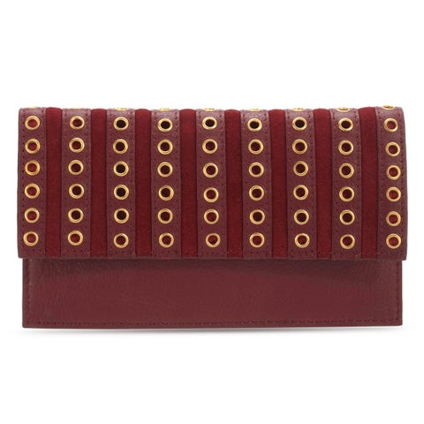Handmade Phive Rivers Women's Leather Wallet (Red, PR1282) - One size (Italy)