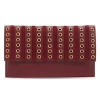 Handmade Phive Rivers Women's Leather Wallet (Red, PR1282) - One size (Italy) - One size