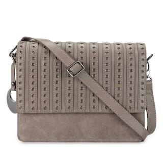 Handmade Phive Rivers Women's Leather Crossbody Bag (Grey, PR1271) (Italy)