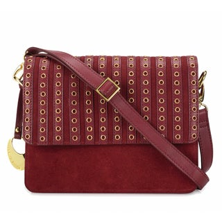 Phive Rivers Women's Leather Crossbody Bag (Red, PR1270)