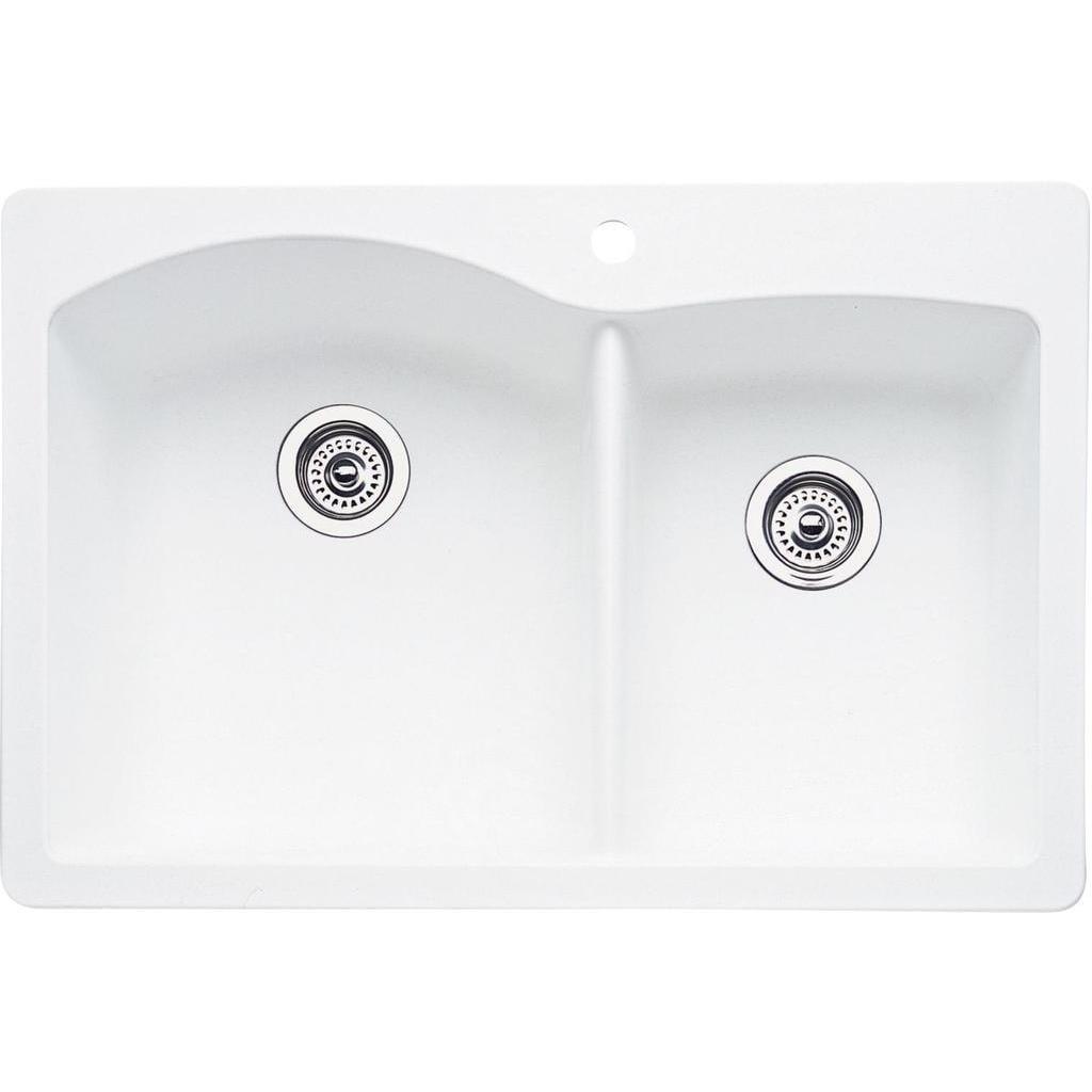 Blanco Diamond Drop In/Undermount Granite Kitchen Sink 44...