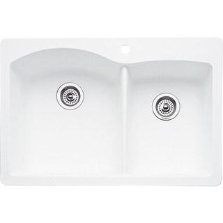 Blanco Diamond Drop In/Undermount Granite Kitchen Sink 440216 White
