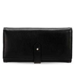 Handmade Phive Rivers Women's Leather Wallet (Black, PR1285)
