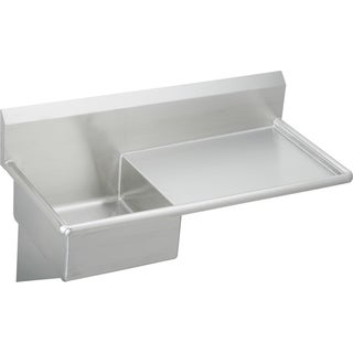 Elkay Commercial Wall Mount Buffed Satin Stainless Steel Kitchen Sink