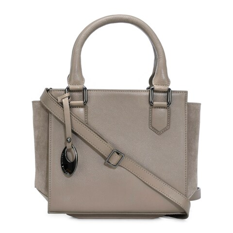 Handmade Phive Rivers Women's Grey Leather Handbag (Italy)