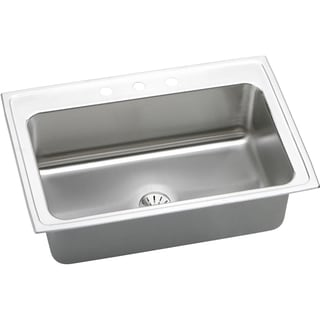 Elkay Gourmet Stainless Steel DLRS332210PD4 Drop In Kitchen Sink