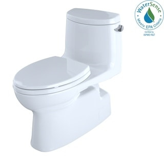 Toto Carlyle II 1-Piece Elongated 1.28 GPF Toilet with Right-Hand Lever and CeFiONtect, Cotton White (MS614114CEFRG#01)