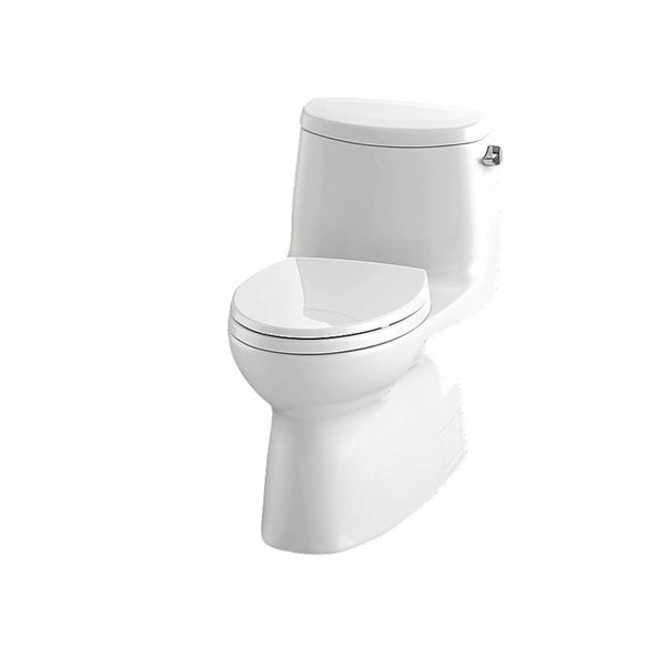 Toto Carlyle Ii White 1 Piece Elongated Toilet Free