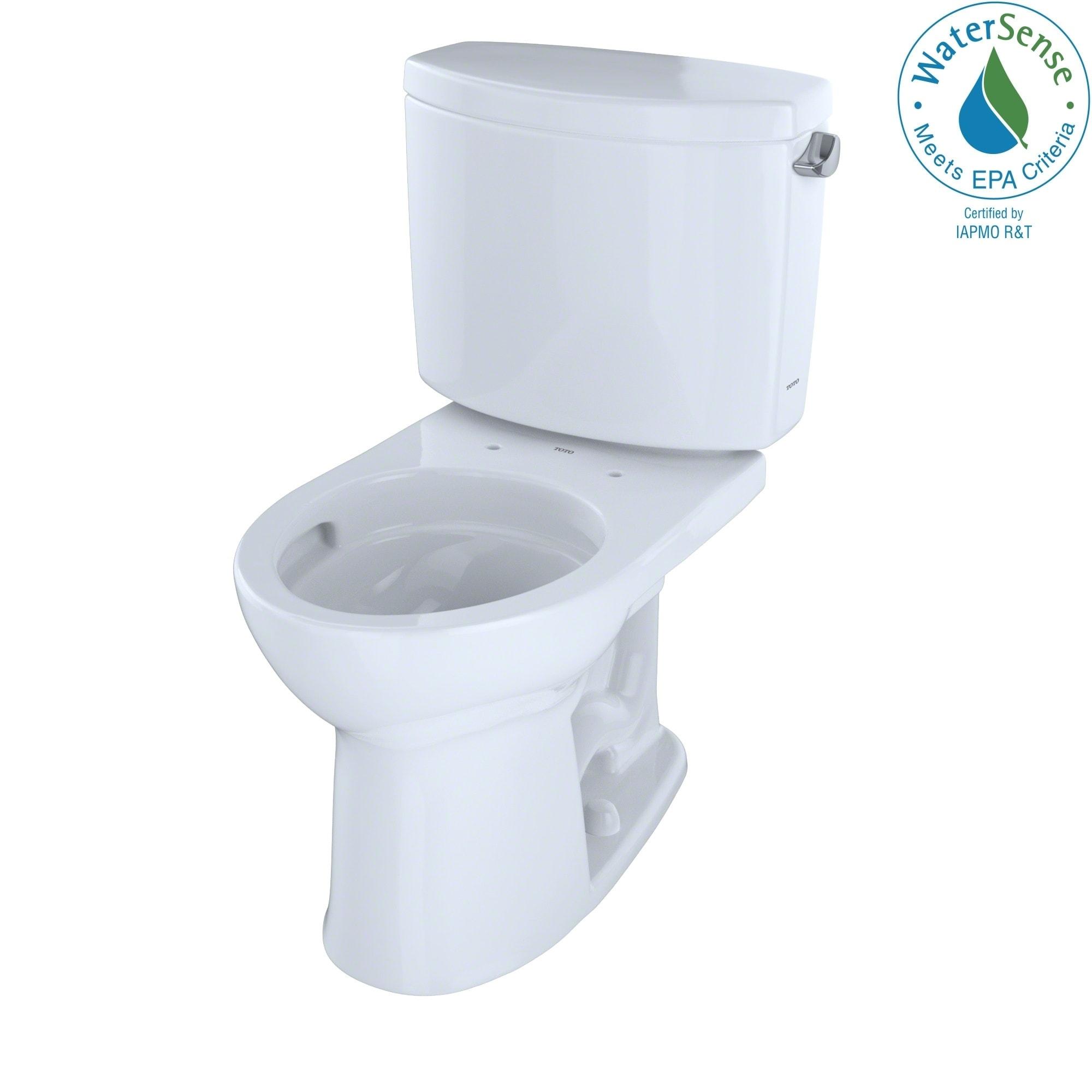 Toto Drake II Round 2-piece White Toilet (Cotton White)