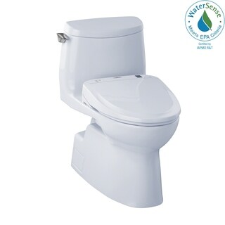 Toto Carlyle II White China Elongated 1-piece Toilet