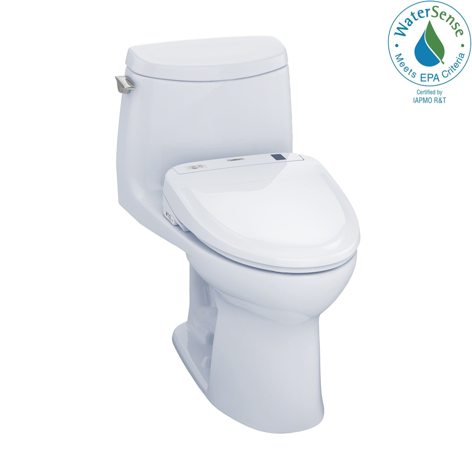 Toto Ultramax II White 1-piece Elongated Toilet (Cotton W...