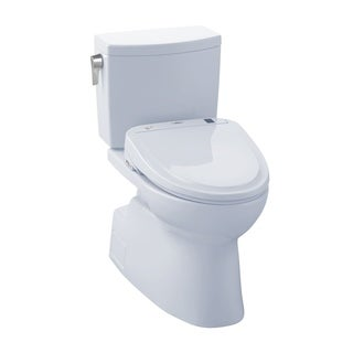 Toto Carlyle II White Elongated 1-piece Toilet