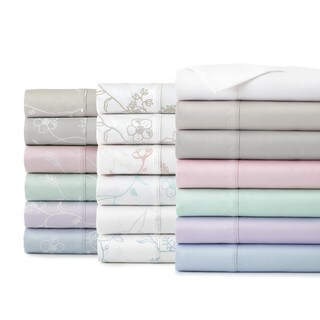 Soft Shabby Chic Solid and Printed Colors 300 Thread Count 100-percent Cotton Sateen Sheet Set by Southshore Fine Linens