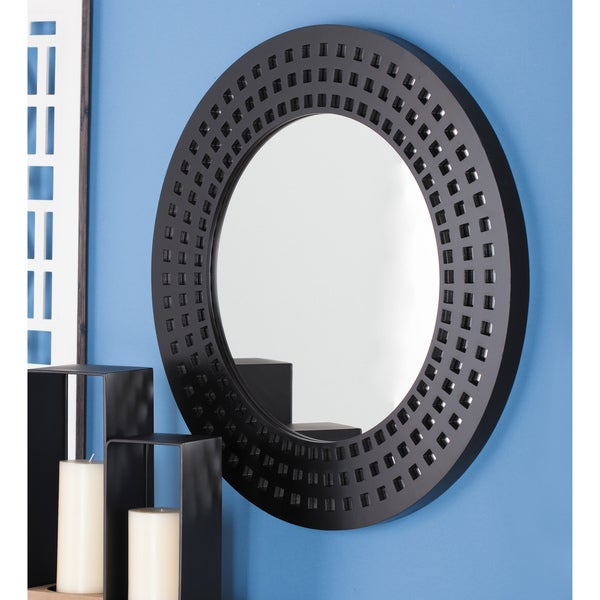Shop Urban Designs Black Lacquered 31 Inch Wall Mirror