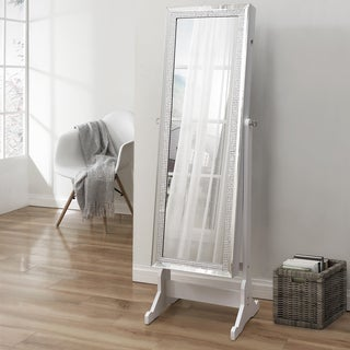 Prestige Cheval Mirror Jewelry Armoire - N/A