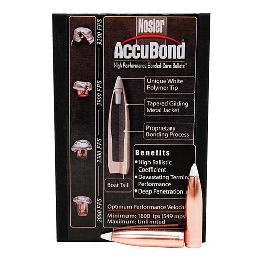 Nosler 270 Caliber Bullets AccuBond, 140 Grains, Ballistic Tip Spitzer Boat Tail, Per 50