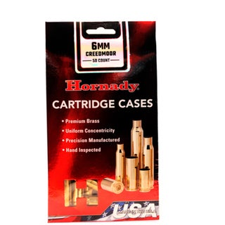 Hornady Unprimed Brass 6mm Creedmoor, Per 50