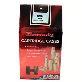 Hornady Unprimed Brass 6mm Remington (Per 50)