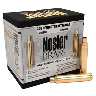Nosler Custom Reloading Brass 300 Remington Ultra Magnum (RUM), Per 25