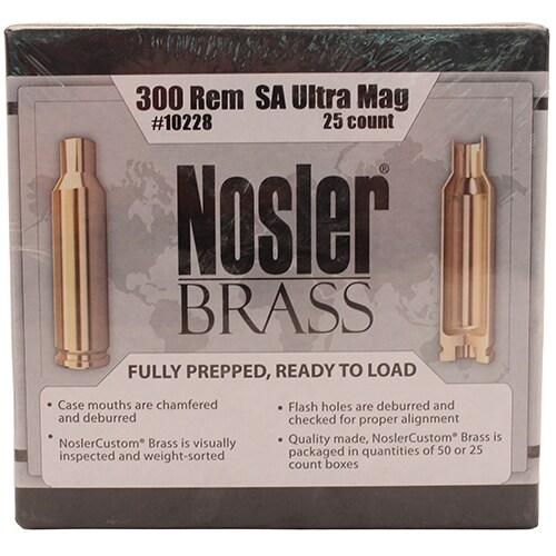 Nosler Custom Reloading Brass 300 Remington Short Action Ultra Magnum , Per 25