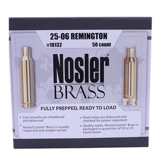 Nosler Custom Reloading Brass 25-06 Remington, Per 50