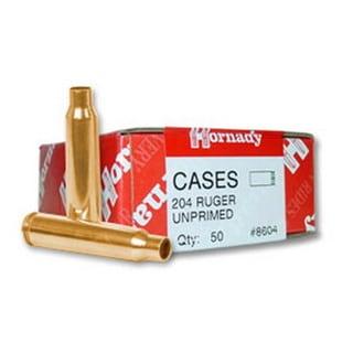 Hornady Unprimed Brass 204 Ruger (Per 50)