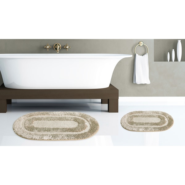 Pearls 2-Piece Microfiber Rug Set