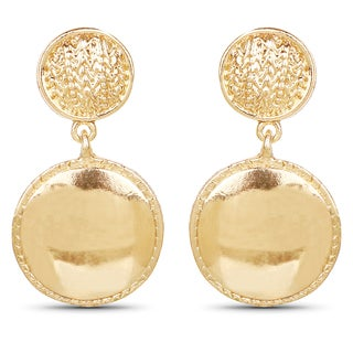 Liliana Bella Goldplated Round Fashion Dangle Earrings