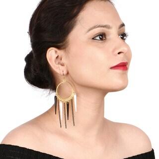 Liliana Bella Goldplated Chandelier Earrings with Black Spike