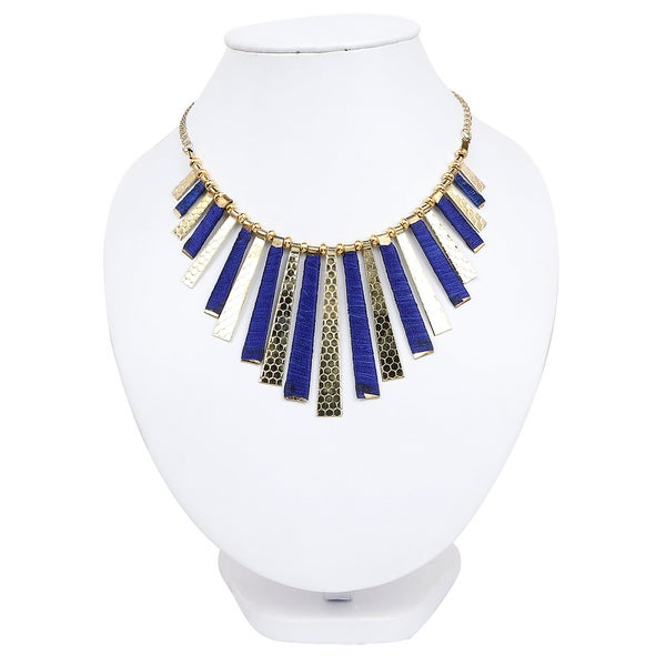 Shop Liliana Bella Goldplated Blue Thread Handmade Necklace Free Shipping On Orders