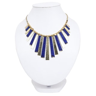 Liliana Bella Goldplated Blue Thread Handmade Necklace