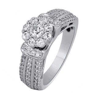 10k White Gold 1CTtw Diamond Engagement Ring