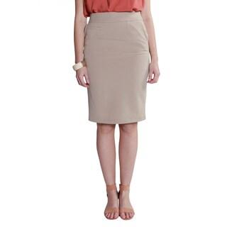 Hadari Women's Pencil Formal Midi Chic Skirt