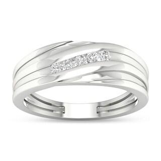 De Couer 1/6 ct TDW Diamond Men's Wedding Band (H-I, I2)
