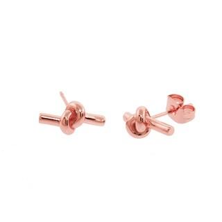 Eternally Haute Rose Goldplated Love Knot Stud Earring