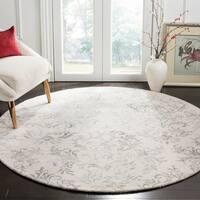 Safavieh Handmade Glamour Damask Scrolls Grey Viscose Area Rug - 3' x 5'