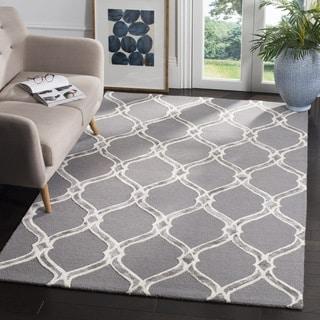 Safavieh Manchester Hand-Woven Wool Dark Grey / Ivory Area Rug (3' x 5')