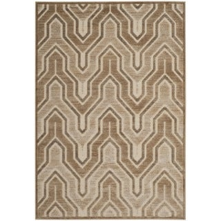 Safavieh Paradise Watercolor Vintage Caramel / Cream Viscose Rug (5'3 x 7'6)