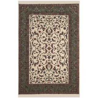 Safavieh Hand-Knotted Tabriz Floral Multicolored Wool / Silk Rug (6' x 9')