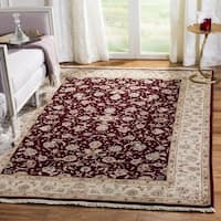 Safavieh Hand-Knotted Tabriz Floral Multicolored / Ivory Wool / Silk Rug - 8' x 10'