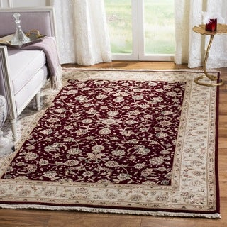 Safavieh Hand-Knotted Tabriz Floral Multicolored / Ivory Wool / Silk Rug (9' x 12')