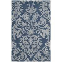Safavieh Bella Hand-Woven Wool Navy / Grey Area Rug - 2'6 x 4'