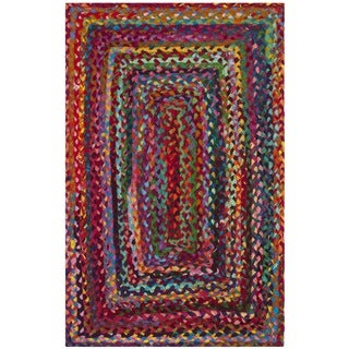Safavieh Hand-woven Reversible Braided Red/ Multi Cotton Rug - 2' X 3'