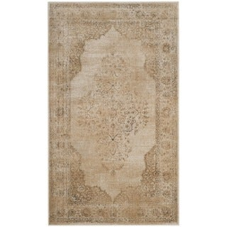 Safavieh Vintage Oriental Cream Distressed Silky Viscose Rug (2' x 3')