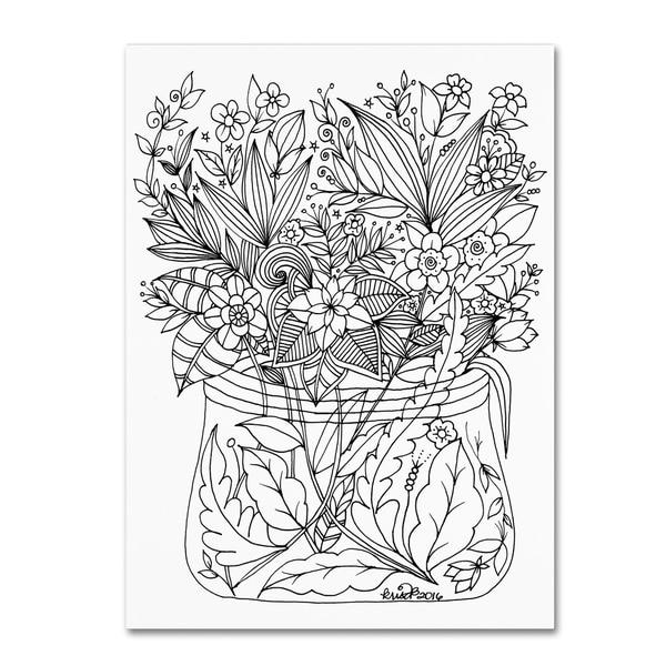 KCDoodleArt 'Flower Design 6' Canvas Art