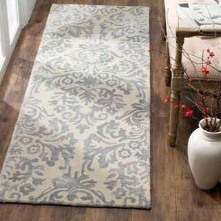 Safavieh Bella Hand-Woven Wool Ivory / Silver Area Rug Runner (2'3 x 7')