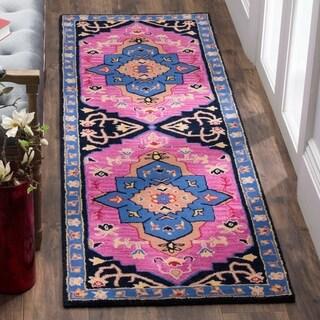 Safavieh Bellagio Hand-Woven Wool Pink / Multi Area Rug Runner (2'3 x 7')