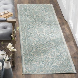 Safavieh Evoke Vintage Oriental Ivory / Light Blue Distressed Runner (2' 2 x 7')