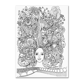 KCDoodleArt 'Flower Girls 18' Canvas Art